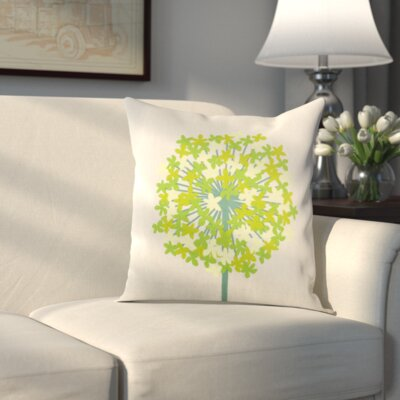 Pottsville Pillow Cover Size: 18 H x 18 W x 1 D, Color: Blue/Green