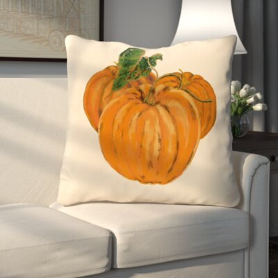 Tres Calabazas Holiday Print Throw Pillow Color: Ivory