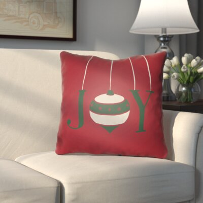 Wynne Indoor/Outdoor Throw Pillow Size: 20 H x 20 W x 4 D, Color: Red / Green / White