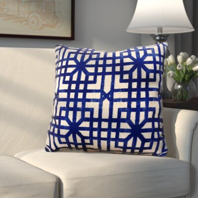 Three Posts Vienna Indoor/Outdoor Geometric Throw Pillow