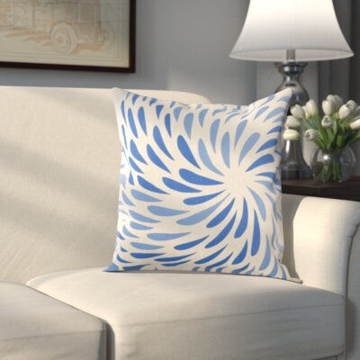 Cherelle Pillow Cover Size: 20 H x 20 W x 0.25 D, Color: Blue