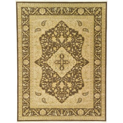 Stirling Brown Area Rug Rug Size: 9 x 12