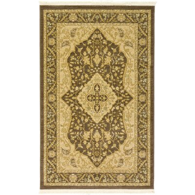 Stirling Brown Area Rug Rug Size: 33 x 53