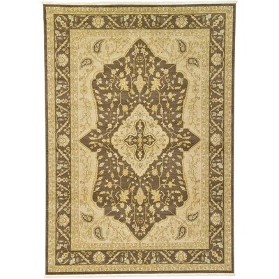 Stirling Brown Area Rug Rug Size: 7 x 10