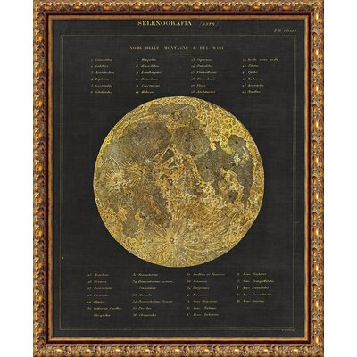 Astronomical Chart I (Moon) Portfolio Framed Graphic Art