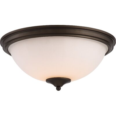 Eich 1-Light LED Flush Mount Base Finish: Aged Bronze