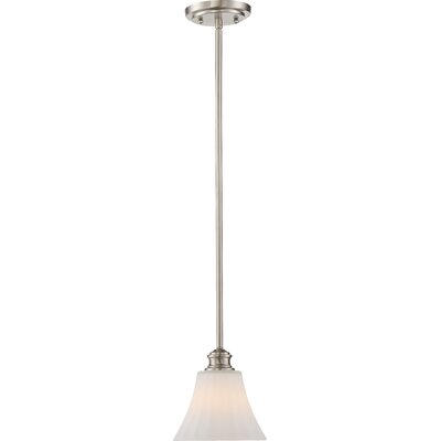 Eich 1-Light LED Mini Pendant Base Finish: Brushed Nickel