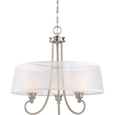 Stoneybrook 3-Light LED Drum Chandelier Finish: Brushed Nickel