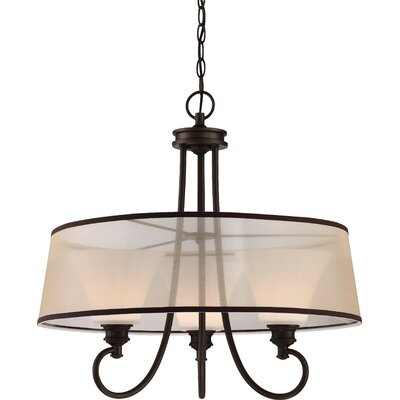 Buggs 3-Light LED Drum Chandelier Finish: Aged Bronze