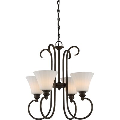 Eich 4-Light LED Shaded Chandelier Finish: Aged Bronze