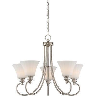 Eich 5-Light LED Shaded Chandelier Finish: Brushed Nickel