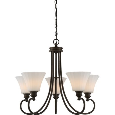 Buggs 5-Light LED Shaded Chandelier Finish: Aged Bronze