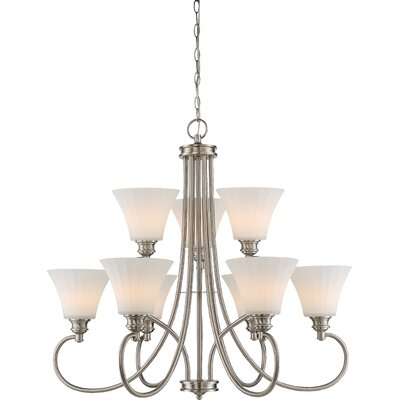 Eich 9-Light LED Shaded Chandelier Finish: Brushed Nickel