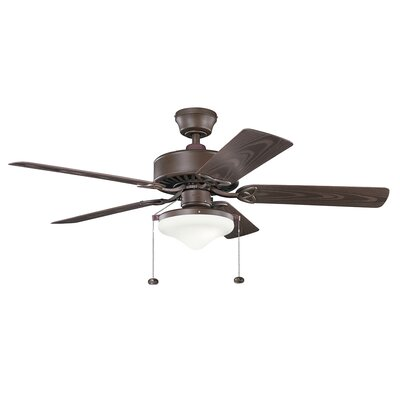 52 Suffolk 5-Blade Ceiling Fan Finish: Tannery Bronze