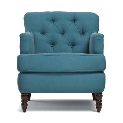 Quinton Traditional Armchair Upholstery: Turquoise