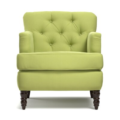 Quinton Traditional Armchair Upholstery: Spring Green