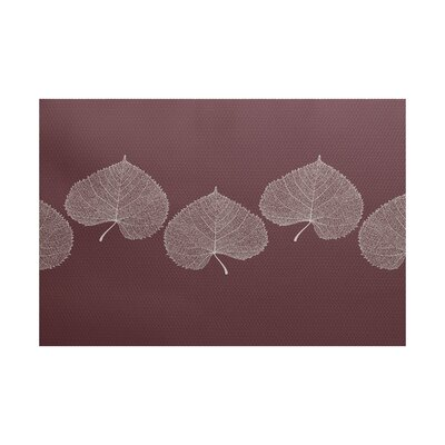 Leatham Maroon Area Rug Rug Size: Rectangle 3 x 5