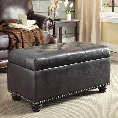 Sylvester Storage Ottoman Upholstery: Espresso
