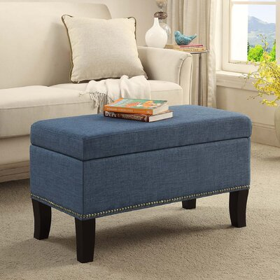 Cohee Storage Ottoman Upholstery: Blue