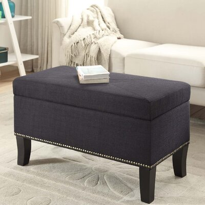 Cohee Storage Ottoman Upholstery: Black