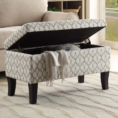 Cohee Storage Ottoman Upholstery: Beige/Gray