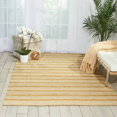 Laflin Hand-Woven Wheat/Tan Area Rug Rug Size: Rectangle 26 x 4