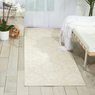 Weissport Ivory/Sand Area Rug Rug Size: 22 x 7