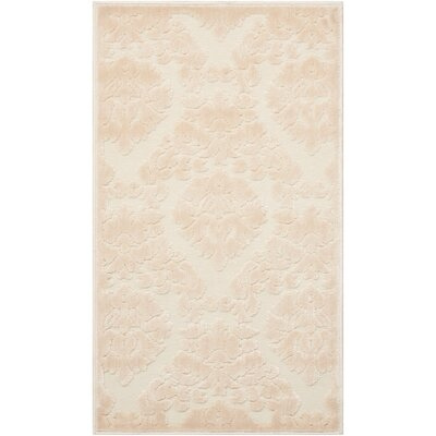 Weissport Ivory/Sand Area Rug Rug Size: Rectangle 22 x 39