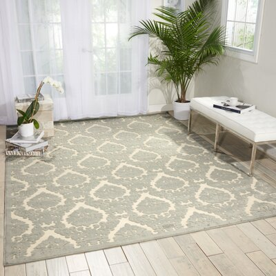 Weissport Gray Area Rug Rug Size: Rectangle 26 x 4
