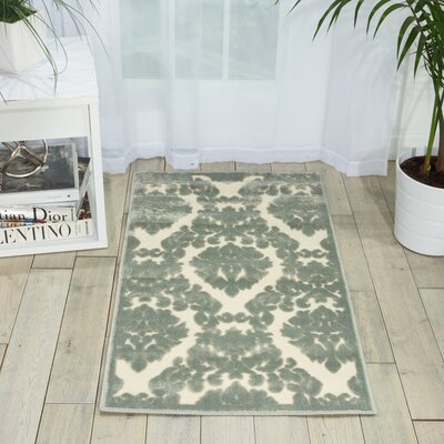 Weissport Gray Area Rug Rug Size: Rectangle 22 x 39