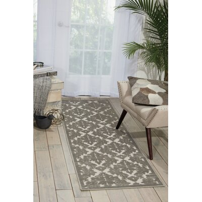 Weissport Silver/Gray Area Rug Rug Size: Rectangle 53 x 73