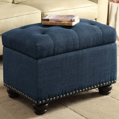 Sweeney 5th Avenue Storage Ottoman Finish: Blue