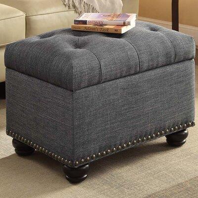Bernadette Storage Ottoman Upholstery: Grey