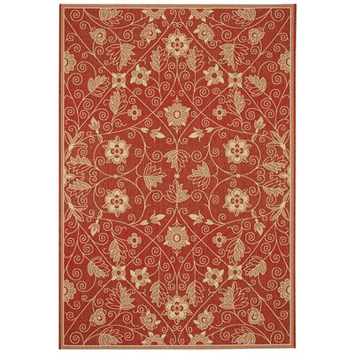 Boyster Red Indoor/Outdoor Area Rug Rug Size: 311 x 56