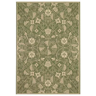 Bainsbury Garden Maze Fern Green Indoor/Outdoor Area Rug Rug Size: 311 x 56