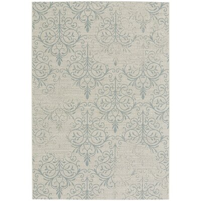 Boyster Blue Indoor/Outdoor Area Rug Rug Size: 53 x 76