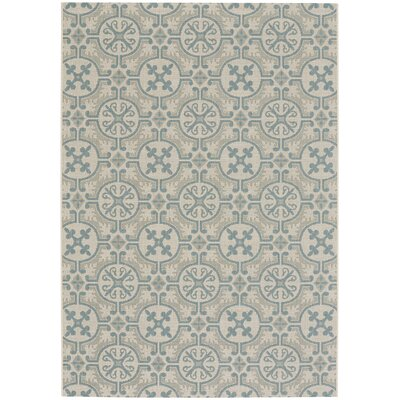 Bainsbury Blue Indoor/Outdoor Area Rug Rug Size: 53 x 76