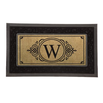Driscoll Monogram Decorative Insert Doormat Letter: W