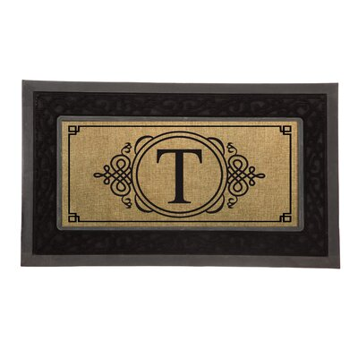 Driscoll Monogram Decorative Insert Doormat Letter: T