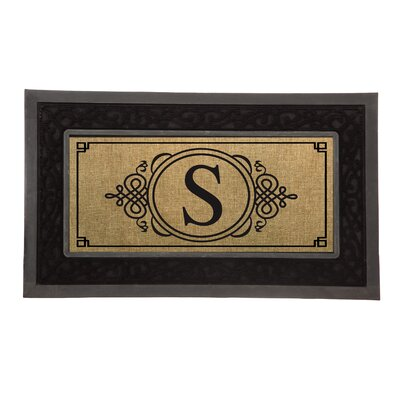 Driscoll Monogram Decorative Insert Doormat Letter: S
