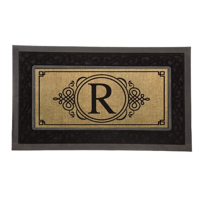 Driscoll Monogram Decorative Insert Doormat Letter: R