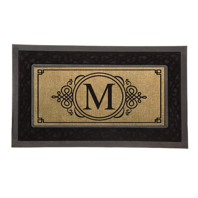 Driscoll Monogram Decorative Insert Doormat Letter: M