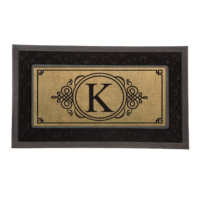 Driscoll Monogram Decorative Insert Doormat Letter: K