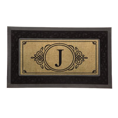 Driscoll Monogram Decorative Insert Doormat Letter: H