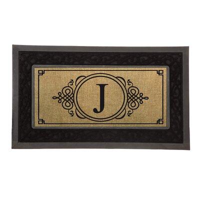 Driscoll Monogram Decorative Insert Doormat Letter: H