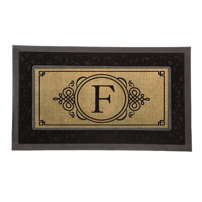 Driscoll Monogram Decorative Insert Doormat Letter: F