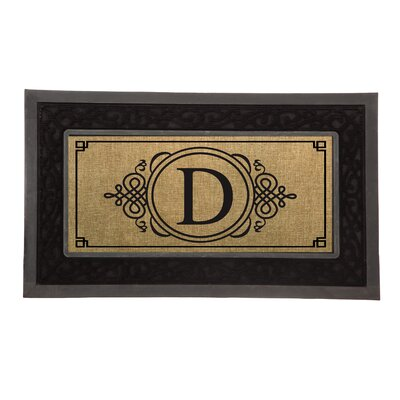 Driscoll Monogram Decorative Insert Doormat Letter: D