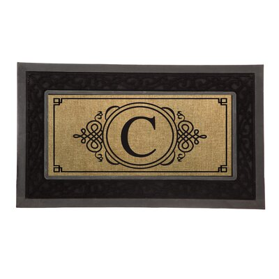 Driscoll Monogram Decorative Insert Doormat Letter: C