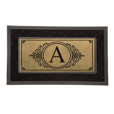 Driscoll Monogram Decorative Insert Doormat Letter: A
