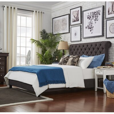 Hinsdale Queen Upholstered Panel Bed Color: Dark Gray
